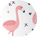 pink-flamingo-circle
